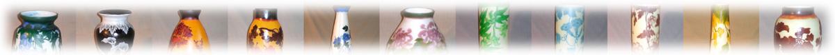 ガレ調ガラス花瓶