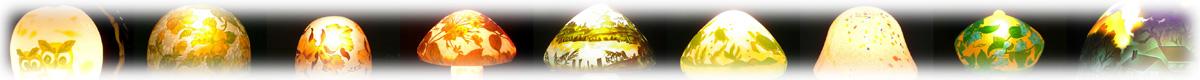 新築祝い・増改築祝いの贈り物に丁度のガレ調ランプ